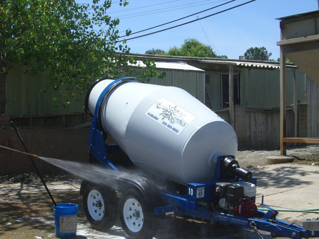portable concrete mixer by Cart-Away