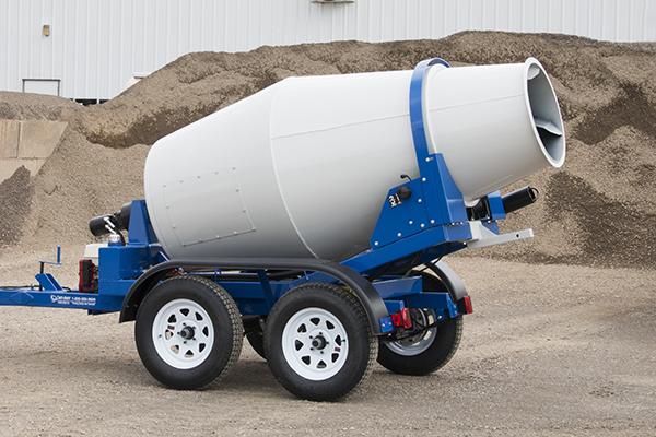 1-yard concrete mixer