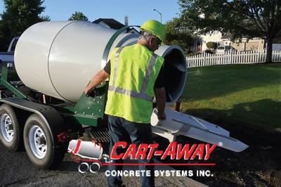 2-yard portable concrete mixer